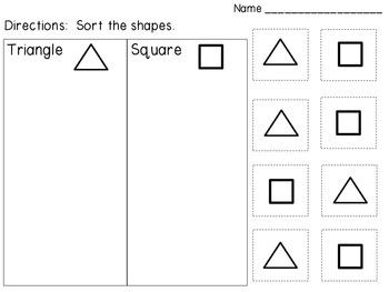 Basic Shapes Sort
