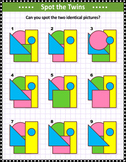 Basic Shapes Spot the Identicals Visual Puzzle 2, Commercial Use Allowed