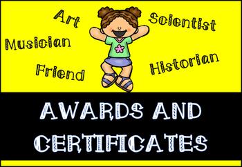 Class Awards and Certificates