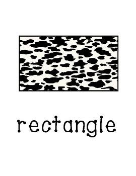 Basic Shapes in animal prints