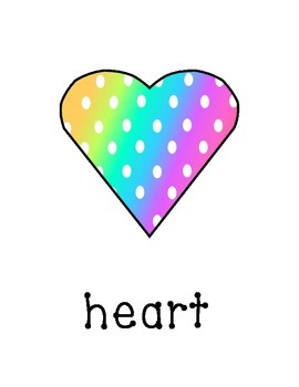 Basic Shapes in rainbow colored polka dots