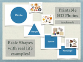 Basic Shapes with Real Life Examples: Printable Poster or