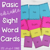 Basic Sight Word Cards {EDITABLE}