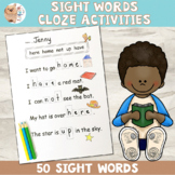 Sight Word Cloze / Close Worksheets For Emergent Readers
