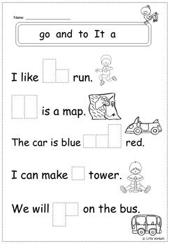 High Frequency / Beginning Readers / Sight Word Cloze /Close Worksheets Activity