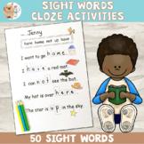 Sight Words / Close Activity - No Prep