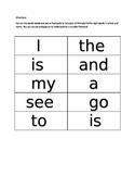 Basic Sight Word Flashcards