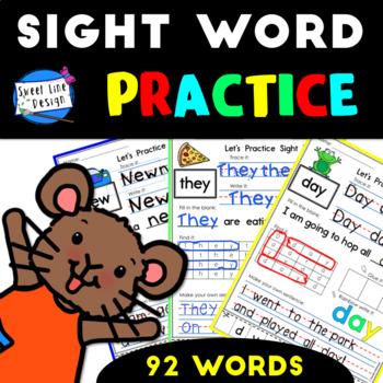Basic Sight Word Practice {Sweet Line Design}