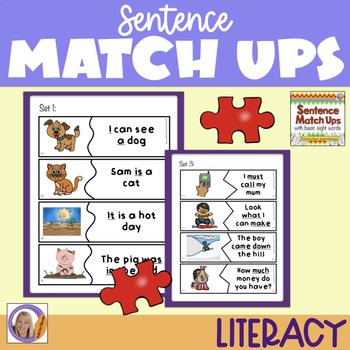 Sight Words: Sentence Match Ups
