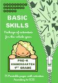 Basic Skills Activities - All Year - Kindergarten & Grade 1 - Printable