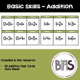 Basic Skills Addition to 20 Task Cards (Special Education, Autism, ABA, DTT)