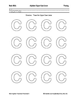 Basic Skills-Alphabet Tracing Upper Case Letter