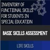 Basic Skills Assessment Functional Life Skills Special Education Google Friendly