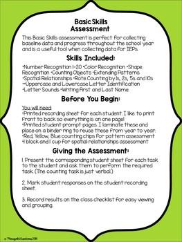 Basic Skills Assessment Kit