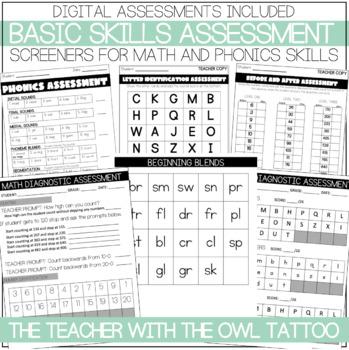 Basic Skills Assessment (Math and Phonics)