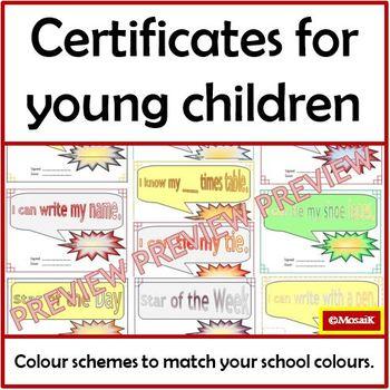 Basic Skills Reward Certificates for Young Children - Growing Bundle