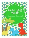 Basic Skills Dinosaur Themed Bundle for Pre-K or Special Ed!
