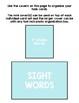 Basic Skills Dolch Sight Words 1st Grade (Special Education, ABA, DTT)