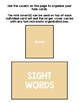 Basic Skills Dolch Sight Words Nouns (Special Education, Autism, ABA, DTT)