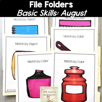 File Folder Activities for Special Education: August Basic Concepts