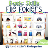 August File Folder Activities for Special Education: Basic Concepts