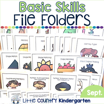 Basic Skills File Folder Games: Monthly Themed: September Fall