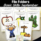 File Folder Activities for Special Education: September Basic Concepts