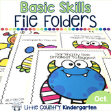 October File Folder Activities for Special Education: Basic Concepts