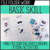 Basic Skills File Folders - Life Skills / Vocational Special Education
