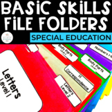 Basic Skills File Folders for Special Education