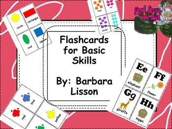Basic Skills Flashcards- Great for Pre-K, Kindergarten, or First Grade Review