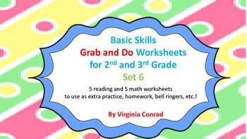 Basic Skills Grab & Do Worksheets--Set 6