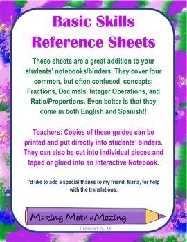Basic Skills Guides - English and Spanish