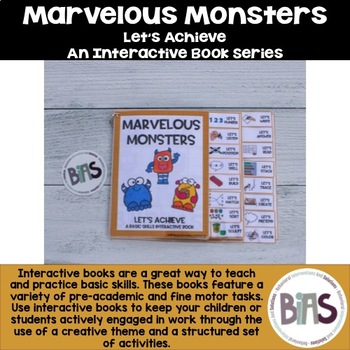 Basic Skills Interactive Book Monster Theme Let S Achieve Series