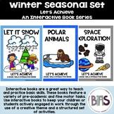 Basic Skills Interactive Books Winter Seasonal Bundle (Let