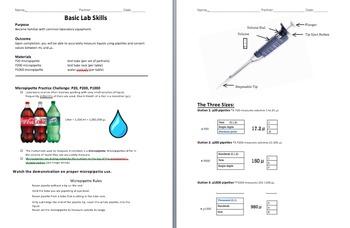 Basic Skills Lab: Micropipette Challenge