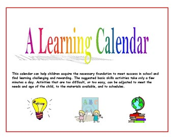 Basic Skills Learning Calendar - Activities Through the Year