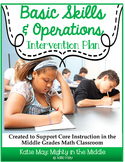 Basic Skills Math Intervention Plan- Supports Middle School Common Core