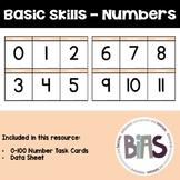 Basic Skills - Number Task Cards (Special Education, ABA, DTT)