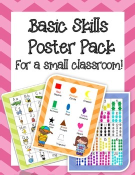 Basic Skills Poster Pack, for a small classroom