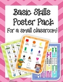 Basic Skills Poster Pack, for a small classroom #backwithboom