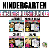 Letters, Numbers, Shapes, and Colors - Basic Skills Bundle