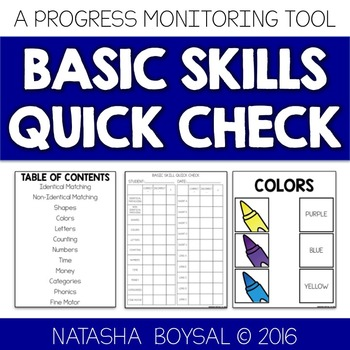 Basic Skills Quick Check (Progress Monitoring Tool)