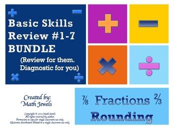 Basic Skills Review BUNDLE #1-7  (Review for them, Diagnos