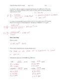 Basic Skills Review for AP Chemistry