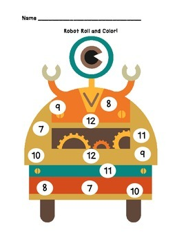Basic Skills Robot Themed Pack for Pre-K or Special Ed!