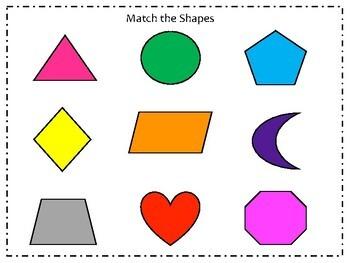 Basic Skills Shape Match Bundle