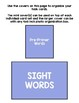 Basic Skills Dolch Sight Words Pre-Primer (Special Education, ABA, DTT)