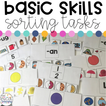 Basic Skills Sorting Work Tasks for Special Education