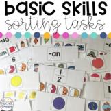 Basic Skills Sorting Work Tasks for Special Education